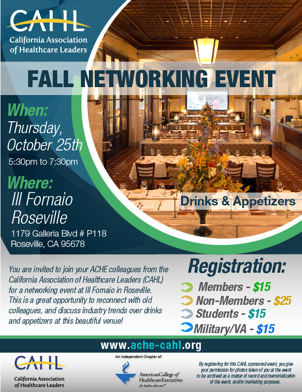 Fall Networking Event Flyer